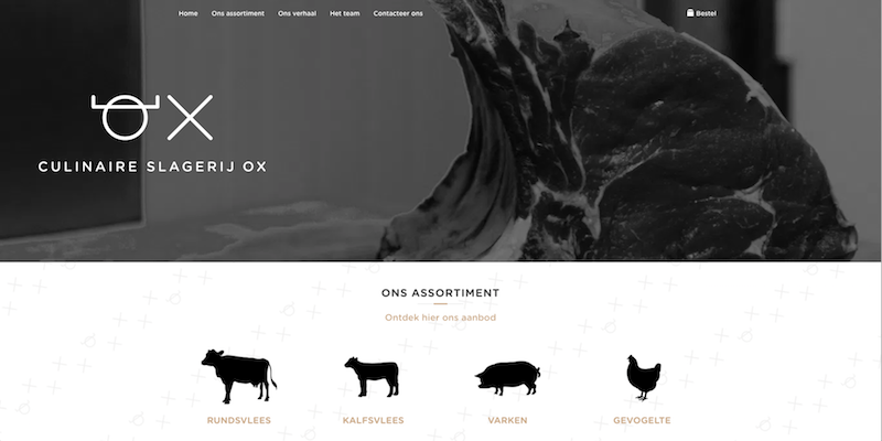 Slagerij OX - Jan Bruyninckx Logo Digital Analyst Scrum Master Website Developer DPO Politician
