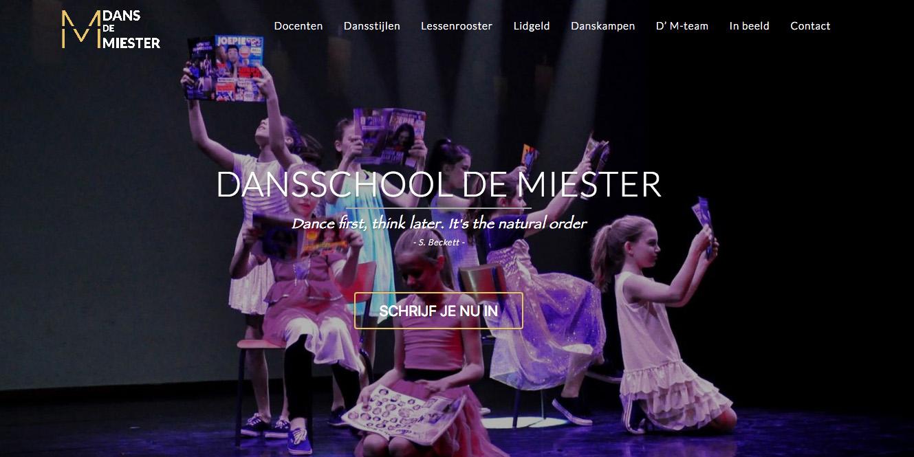 Dans De Miester - Jan Bruyninckx Logo Digital Analyst Scrum Master Website Developer DPO Politician
